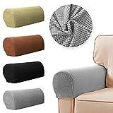 WHK 1 par de Fundas para reposabrazos, sillón elástico extraíble, sillón Antideslizante, Fundas para sillón, Protectores de Brazo para sofá, Funda para sofá