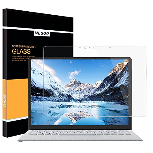 Surface Laptop 4/3 13.5 Screen Protector, Tempered Glass, Easy Installation/HD Clear/Anti-Scratch Screen Shield, Compatible For Microsoft Surface Laptop 4/3/2/1 (2017-2019 Released) 13.5 Inch.