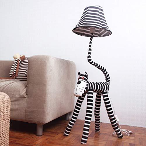 NA Hogar Lámpara de pie, Lectura de pie Led, Lámpara de pie de dibujos animados creativo Estrella de gato Personas Lámpara de pie Niños Dormitorio Dormitorio Sala de estar Lámpara de noche Protección
