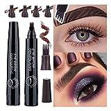 WEIKI Eyebrow Pencil, Microblading Eyebrow Pen, Tattoo Eyebrow Long Lasting, Waterproof 4pcs