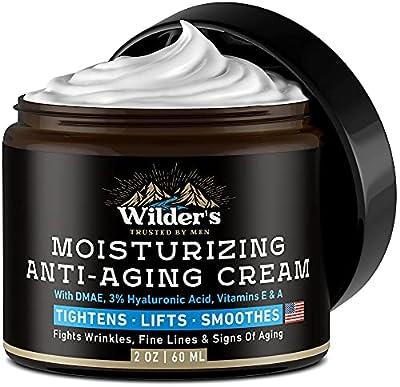 MEN BELIEVE IN WILDER Men's Face Moisturizer - Anti Aging Facial Skin Care - Made in the USA - Collagen, Retinol, Hyaluronic Acid - Day & Night - Anti Wrinkle Lotion 2 oz
