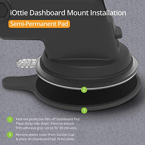 iOttie Easy One Touch 4 Dashboard & Windshield Car Phone Mount Holder for iPhone Xs Max R 8 Plus 7 6s SE Samsung Galaxy S9 S8 Edge S7 S6 Note 9 & Other Smartphone