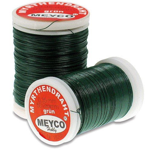 Meyco 28204 Myrthendraht Bindedraht 0,35mm x 132m grün