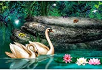 ジグソーパズル1000ピース-スニークピークシリーズ-湖の風景_IG-0958大人の特別卒業または誕生日プレゼントの家の装飾のための娯楽玩具
