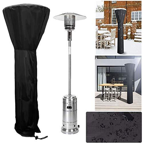 Patio Heater Cover Waterproof Heavy Duty Electric Patio Heater Cover with Zipper Outdoor Anti Rain UV Dust (226x85x48cm)