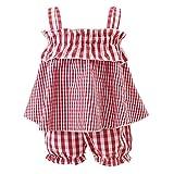 Borlai Mädchenbekleidung Set Anzug Ärmelloses Top-Shirt + Bloomer Kurze Hosen-Packung von 2Pc