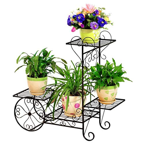 JM Stand d'extérieur en métal Stand de fleur en métal (Couleur : A, taille : Medium 67 * 68CM)