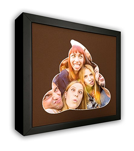 Emoji Poop Photo Mat with Frame - Awesome Emoji Poop Frame for Your 8x10 Photo