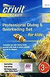 CRIVIT BEACH Kinder, die professionelle Tauchen & snorkling Set Blau/Gelb UK 13-4½