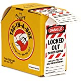 """SmartSign """"Danger - Locked Out, Do Not Remove"""" 2-Sided Safety Tag 