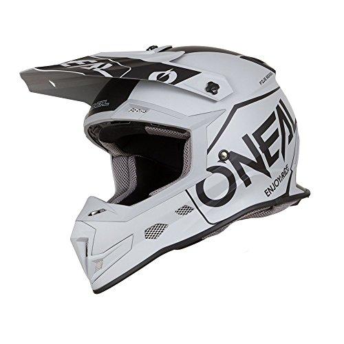 O'Neal 5Series Hexx Motocross Helm Motorrad MX Enduro Trail Quad Cross Offroad, 0618, Farbe Grau, Größe M