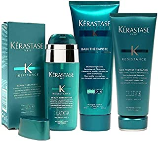 Kerastase Resistance Therapiste Shampoo 250Ml, Conditioner 200Ml And Serum 30Ml Trio
