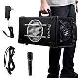 Frisby FS-4300BT 2.1 Ch Bluetooth Portable Karaoke Home Audio Speaker Heavy Duty Trolley System w/Wired Microphone, SD USB Reader - Excellent Sound Quality with Clear Loud Audio (Black)