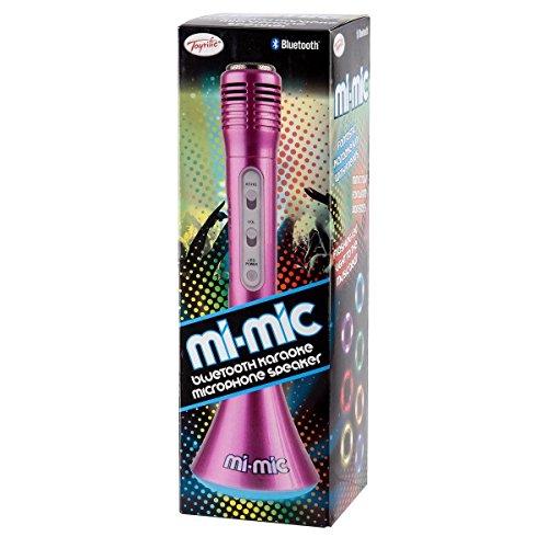 Mi-Mic TY5899PK Kids Karaoke Microphone Speaker with Wireless Bluetooth and LED Lights, Pink