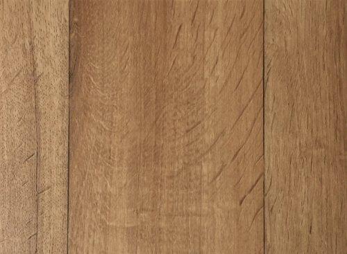 PVC-Bodenbelag XL Holzdielenoptik Hell | Vinylboden in 2m Breite & 5m Länge | Fußbodenheizung geeignet | Pflegeleichte & rutschhemmende PVC Planken | Stark strapazierfähiger Fußboden-Belag