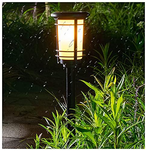ZHMIAO Luz solar de llama, luz LED para exterior, bailar llamas titilantes, impermeable, iluminación de paisaje, césped, jardín, iluminación de suelo