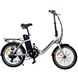 Cyclamatic CX2 Bicycle Electric Foldaway Bike with Lithium-Ion Battery (Renewed)