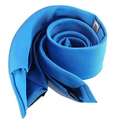Tony & Paul - Cravate Soie 6 Plis, Bleu Cina, Faite à La Main