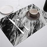 Zfwlkj Tovaglietta Placemat for Tavolo da Pranzo stoviglie da Tavolo Durevole Table tappetini Drink Bevande sottobicchieri Tappetino Table Decorazione Accessori (Color : 927, Size : Polyester)
