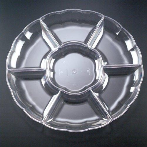 EMI Yoshi Koyal 7 Compartment Tray, 18-Inch, Clear, Set of 12