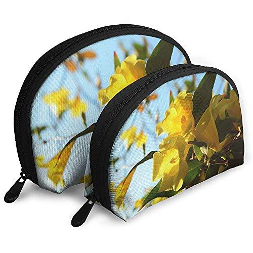 Carolina Gelb Jessamine Tragbare Taschen Kosmetiktasche Kulturbeutel, Multifunktions Tragbare Reisetaschen Kleine Make-up Clutch Tasche mit Reißverschluss
