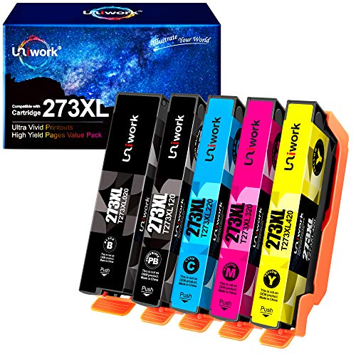 Uniwork Remanufactured Ink Cartridge Replacement for Epson 273 XL 273XL use for Expression XP-520 X-P820 XP-620 XP-610 XP-800 XP-810 Printer, 5-Pack (Black, Photo Black, Cyan, Magenta, Yellow) Georgia