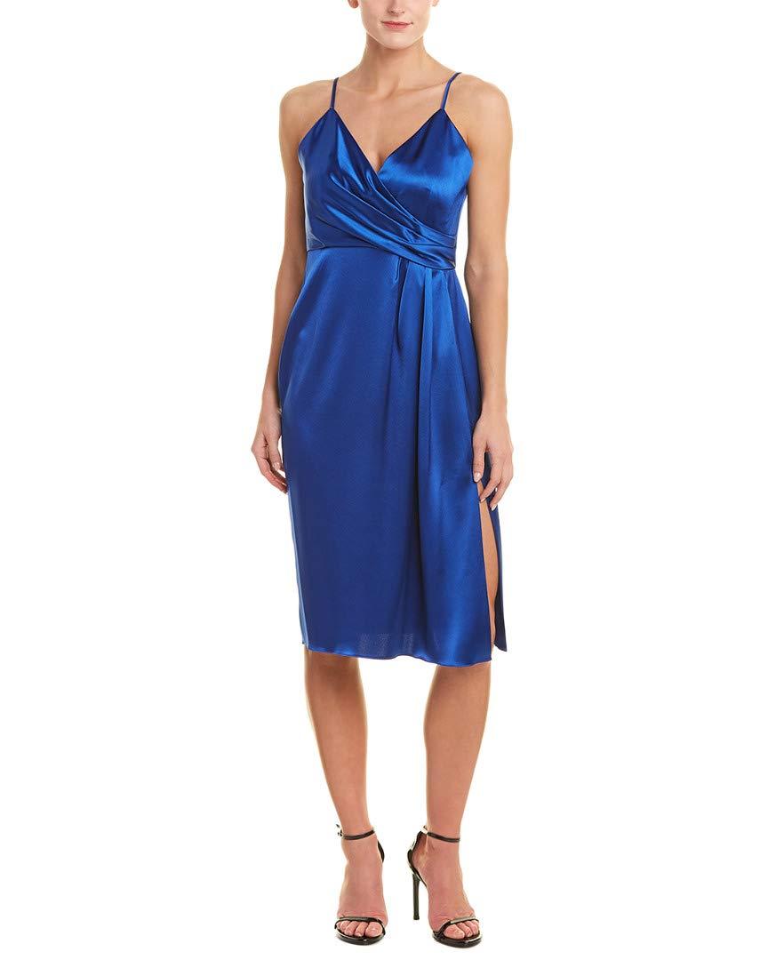Available at Amazon: Jill Jill Stuart Women's Satin Wrap Cocktail Dress