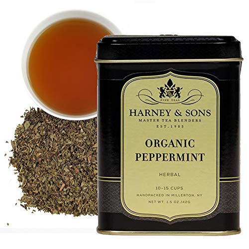 Harney & Sons Organic Peppermint Loose Tea, 1.5 oz tin