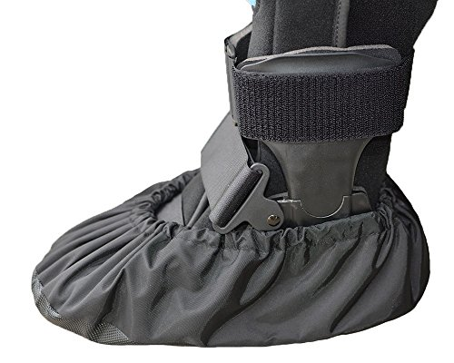 MyShoeCovers 1 Fracture Walking Boot Cover - Black, Large