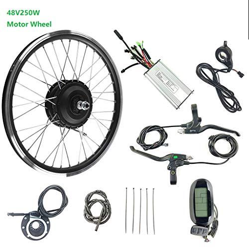 ZLM Elektro-Fahrrad Umbausatz E-Bike Cycling Kit 250W48V Brushless Für Front Motor Rad Ebike Kit Mit KT LCD6, 26inch LCD Sets