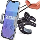 Metal Bike & Motorcycle Phone Mount - The Only Unbreakable Handlebar Holder for iPhone, Samsung or Any Other Smartphone. +100 to Safeness & Comfort