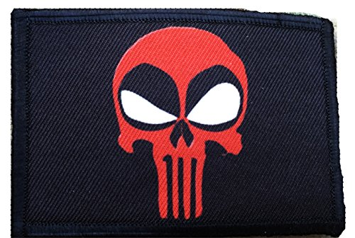 RedheadedTshirts Deadpool Punisher Morale Patch. 2x3 Hook and Loop Patch. Made in The USA