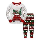 Little Boys Girls Christmas Pajamas Sets for Toddler 100% Cotton Dinosaur Planet Sleepwear Long Sleeve 2 Piece kids Clothes Pjs 3-7T car-6277-5T