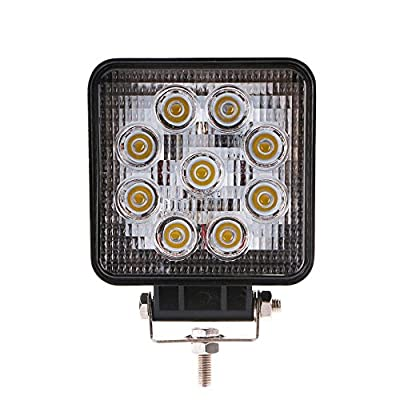 Handxen 27W LED Flood Beam Work Light with High Power LED Chips for ATV Jeep Boat SUV Truck Fishing Deck with Stands