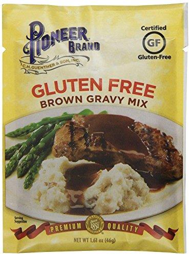 Pioneer Brand Gluten Free Premium Brown Gravy (Pack of 4) 1.61 oz Packets