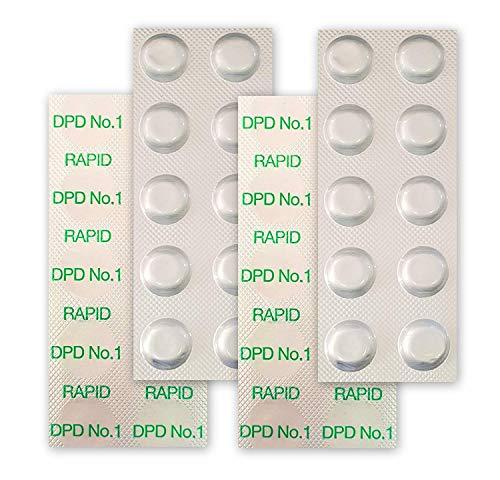 well2wellness 40 Pool Testtabletten Chlor-Wert Bestimmung (DPD No.1 Rapid) - 4 x 10 Stück