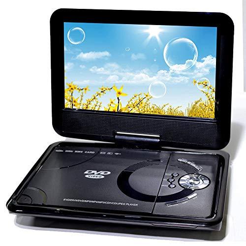 WFGZQ Reproductor De DVD Portátil, 9.0 Pulgadas HD 800 * 480 16: 9 Resolución LCD TV De Pantalla Reproductor De DVD Portátil, Puede Recibir Fácilmente Canales De Televisión por Cable