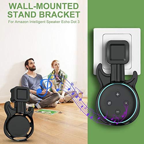 LLDHWX - Soporte de Pared con Disco de bobinado Integrado para Altavoz Inteligente Amazon Echo Dot 3