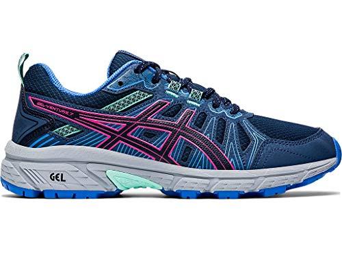 ASICS Women's Gel-Venture 7 Running Shoes, 9.5M, Peacoat/HOT Pink