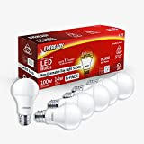 EVEREADY Led Light Bulbs, Non-Dimmable, 100 Watts Equivalent Light Bulbs (14W Led Bulbs), 1500 Lumen, 5000K Daylight Color, A19, E26 Base Led Replacement for Halogen Bulb, UL Listed - 6 Pack