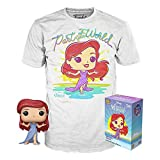 USA OFFICIAL La Sirenetta Tee Box - Camiseta talla S con Funko Pop Ariel Glitter Exclusive