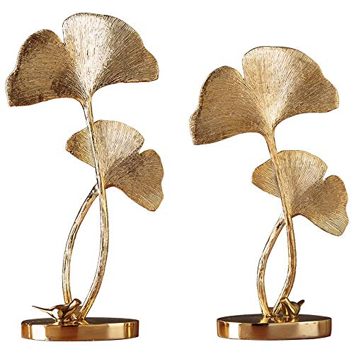 LYJxuan European Ginkgo Leaf Decoration, Wine Cabinet Decorations, Home Decorations, Living Room Home Crafts, The Best Choice for Opening Gifts, This is A A Very Reautiful Artwork, Worthy of Your Own