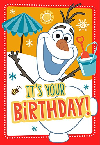 Olaf Frozen Geburtstagskarte