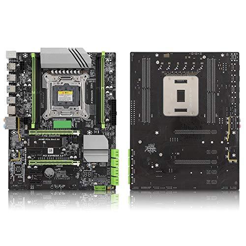 Placa Base de Escritorio, Placa Base de computadora LGA2011-3 DDR4 para Inter X99, con Chip Nic, 8 Puertos SATA2.0, Interfaz SSD M.2, Soporte 4 DDR4 2133/2400/2800