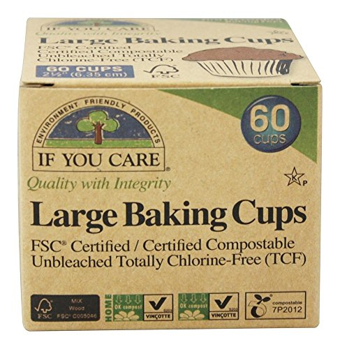 If You Care FSC Certified Unbleached Large Baking Cups, 60ct, 3pk