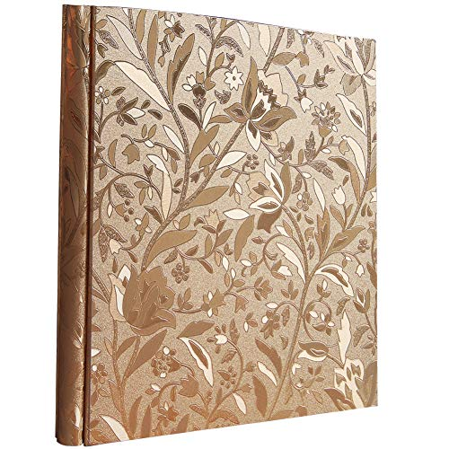 Ksmxos 600 Pockets Leather Cover Photo Album 4x6 Large Capacity for Baby Family Wedding Anniversary Albums Gold