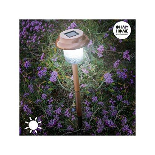 Balise solaire LED 41 cm - Cuivre - Jardin