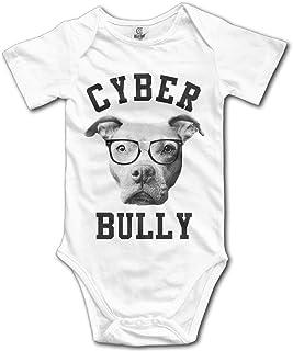 Unisex Baby's Cyber Bully Pit Bully Bodysuits Romper Light Onesies