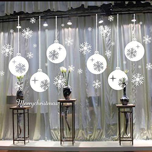 PMSMT DIY Navidad Ventana Decorativa Halloween Pegatinas electrostáticas Decoraciones navideñas para el hogar Año Nuevo 2020 calcomanía de Pared n. ° 2