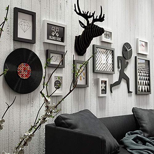 10 Stück Collage Bilderrahmen Multi Pack Fotorahmen Set Wandgalerie Kit Vier 11,3 x 15,2 cm, vier 15,2 x 20,3 cm, eins 22,7 x 27,7 cm eins 27,7 x 37,7 cm